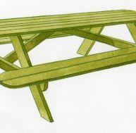 Construire une table de pique-nique
