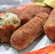 Croquetas de pommes de terre au saumo