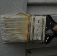 Peinture de volets en bois