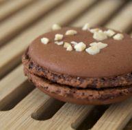 Délicieux macaron au chocolat