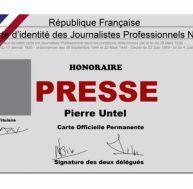 Obtenir une carte de presse