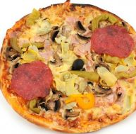 Pizza aux fonds d'artichauts