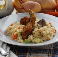Poule au riz à la parisienne