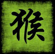 Signe chinois : le singe