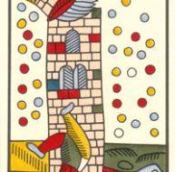 Tarot de Marseille - XVI - La Maison Dieu