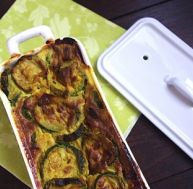 Terrine de courgette au curry.