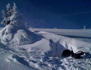 Abri de neige terminé