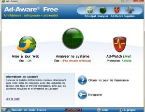 Le logicel Ad-Aware