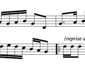 Les premières notes de la chanson « Alouette »