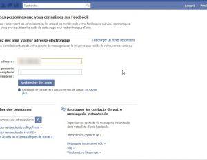 Retrouver des amis sur Facebook