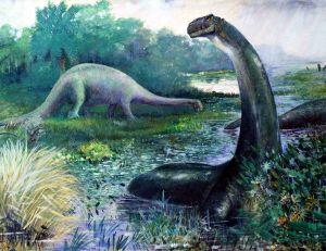 La queue de ce dinosaure était à même de dépasser la vitesse du son - copyright Charles Robert Knight / wikimedia commons