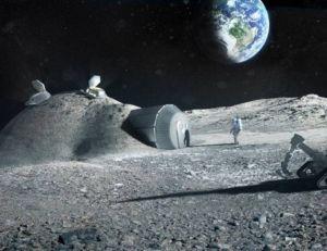 Vue d'artiste d'une base lunaire installée sur la Lune - copyright ESA