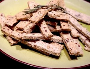 Biscuits apéritif aux flocons d'avoine