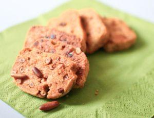 Biscuits salés aux pignons et pesto rosso