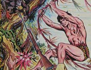 Couverture d'un « comics » consacré à Tarzan en 1979