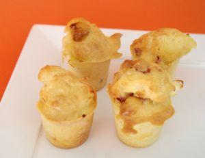 Cakes salés chèvre et chorizo