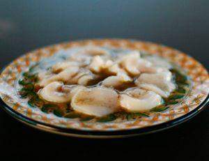 Carpaccio de noix de Saint-Jacques