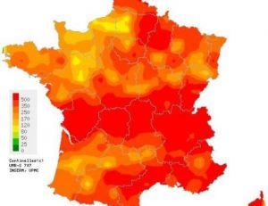 Répartition des cas de grippe en France en 2011