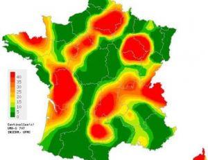 Cas de varicelles en France lors en 2011