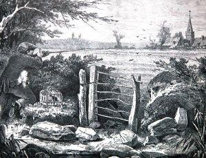 Illustration montrant une chasse aux alouettes au début du 20ème siècle
