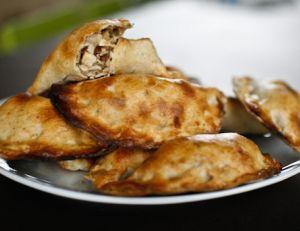 Chaussons de poulet aux champignons