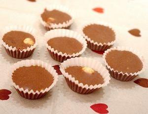 Chocolats au caramel et aux noisettes