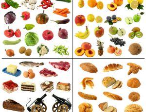 Les groupes d'aliments