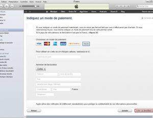 """Cliquer sur """"Aucun"""" et enfin sur """"Créer un identifiant Apple"""""""
