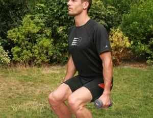 Position suivante pour se muscler les quadriceps
