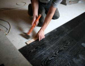 pose de parquet flottant. Black Bedroom Furniture Sets. Home Design Ideas