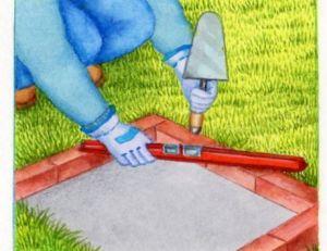 Réaliser le foyer avec des briques réfractaires