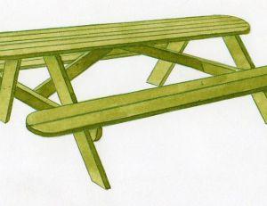 Construire une table de pique nique