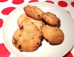 Cookies raisins secs et flocons d'avoine
