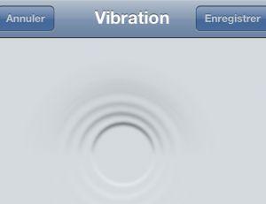 Créer des vibrations personnalisées sur iPhone