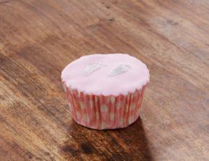 Cupcake avec un glaçage royal