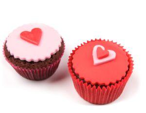 Cupcakes avec de la pâte à sucre