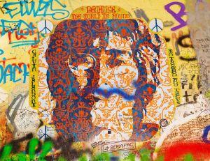 L'oeuvre d'un artiste de rue