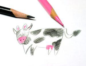 Dessin d'une vache