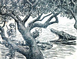 """Illustration parue dans le journal """"pour la jeunesse"""" l'Intrépide, 1914"""
