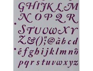 Tissu avec des chiffres et des lettres