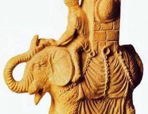 Éléphant utilisé par les Romains pour la guerre