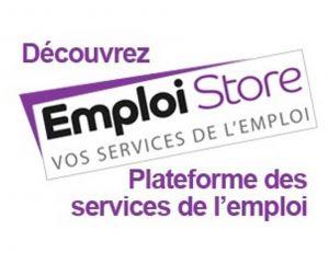 Logo de l'Emploi Store, dispositif connecté mis en place par Pôle emploi