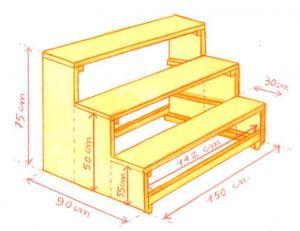 Dimensions de l'étagère (cliquez pour agrandir)