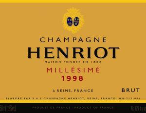 Etiquette de Champagne Henriot
