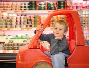 Faire des courses avec les enfants