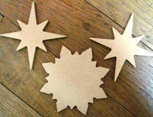 Réaliser des étoiles en carton phosphorescentes