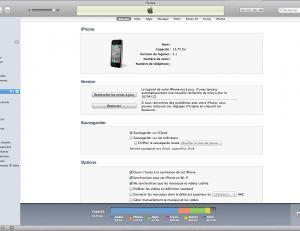 Fenêtre iTunes