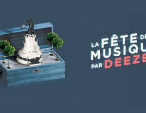 Deezer organise un concert pour la Fête de la musique, place de la République....