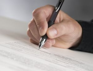 Signature d'un contrat d'intérim