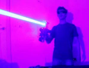 Aperçu du fusil laser créé par Drake Anthony...